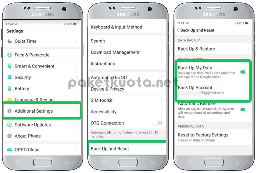 cara backup data android google drive