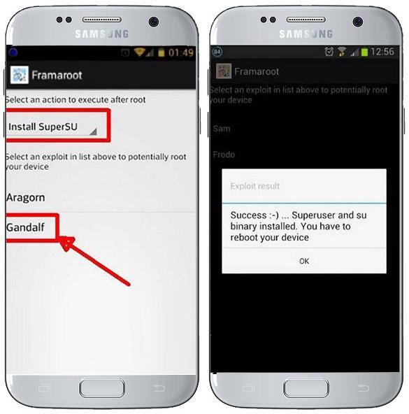 cara root android dengan framaroot
